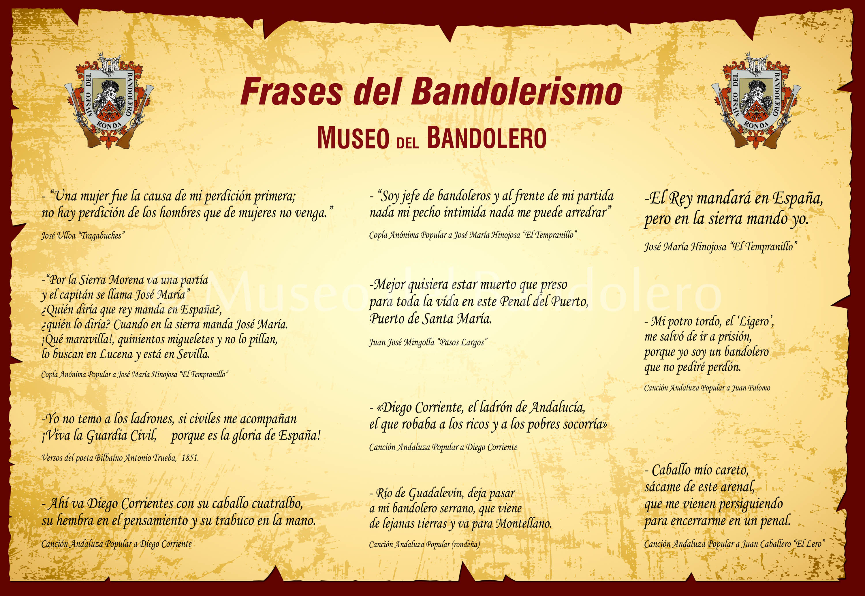 Frases Célebres De Bandoleros Museo Del Bandolero Ronda
