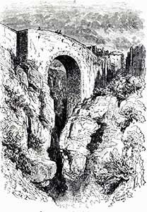 Grabado Puente Viejo de Ronda