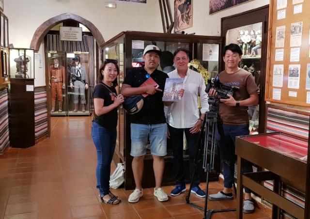 TV japonesa en el Museo del Bandolero